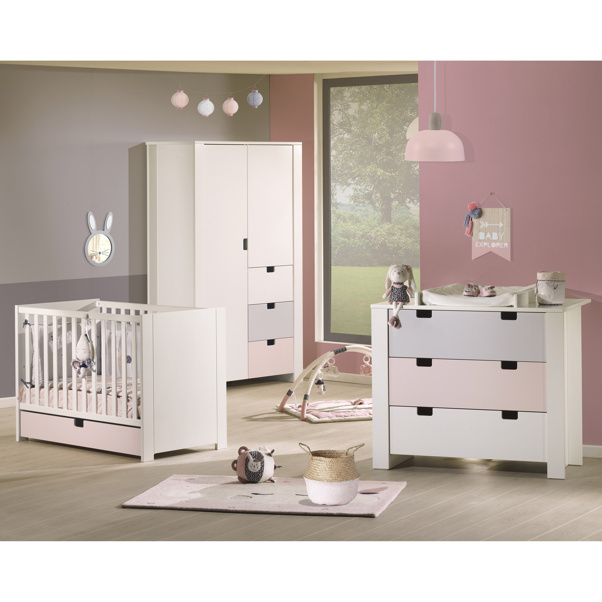 City commode 3 tiroirs Ardoise  de Sauthon Baby's Sweet Home