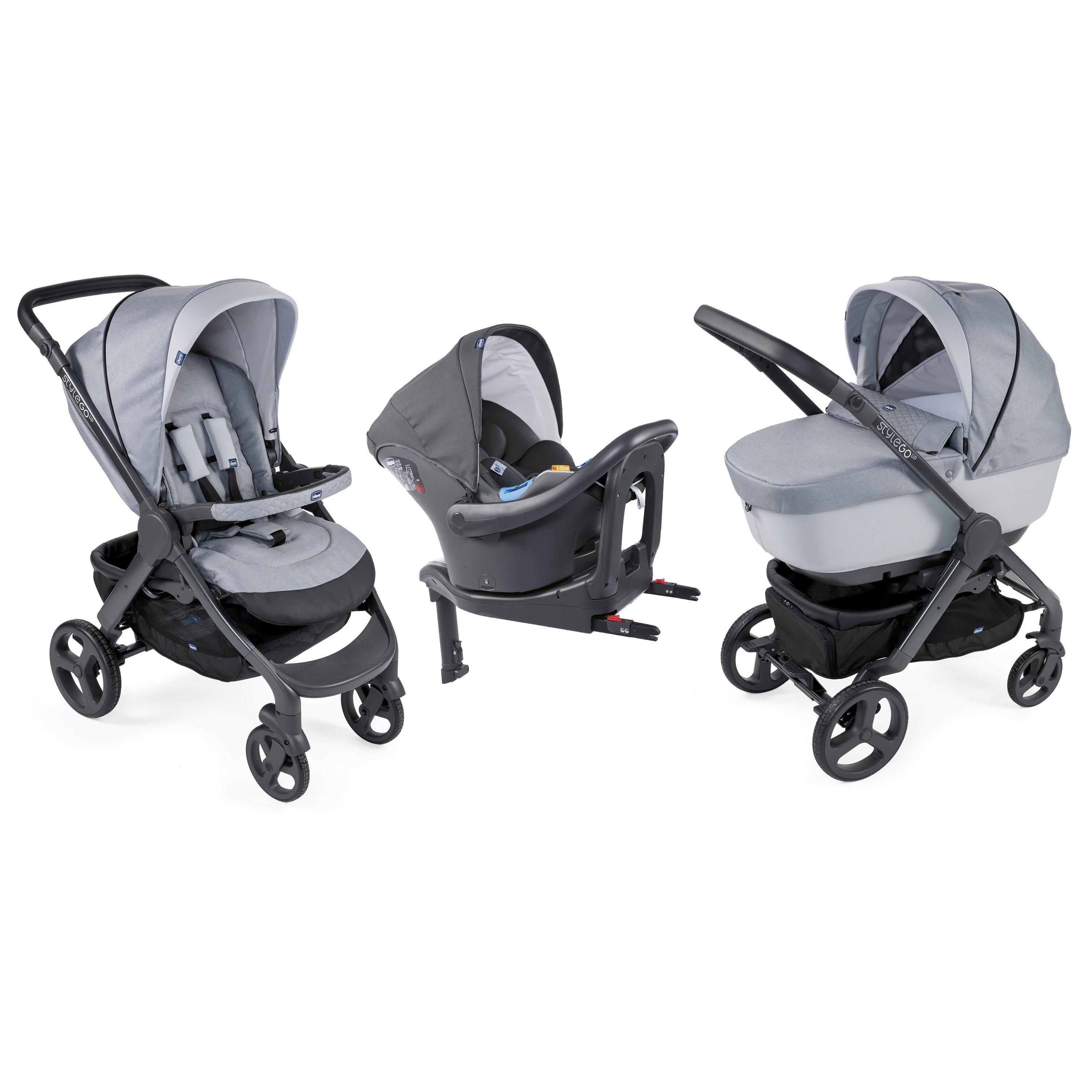 Trio StyleGo Up i-Size Bebecare  Light Grey  de Chicco