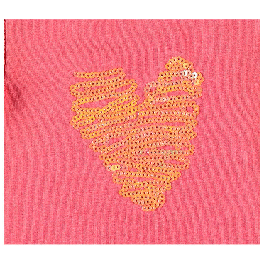 T-shirt Coeur collection Peps Girl Rose  de Noukies