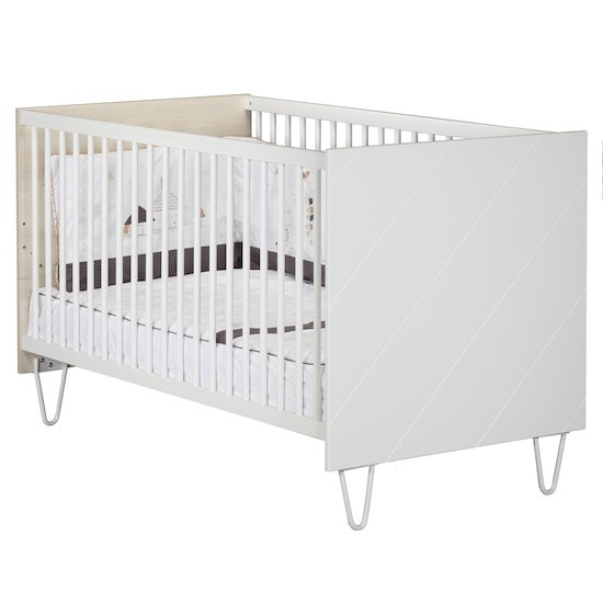 Happy little big bed 70x140 Acacia clair/blanc  de Sauthon Baby's Sweet Home
