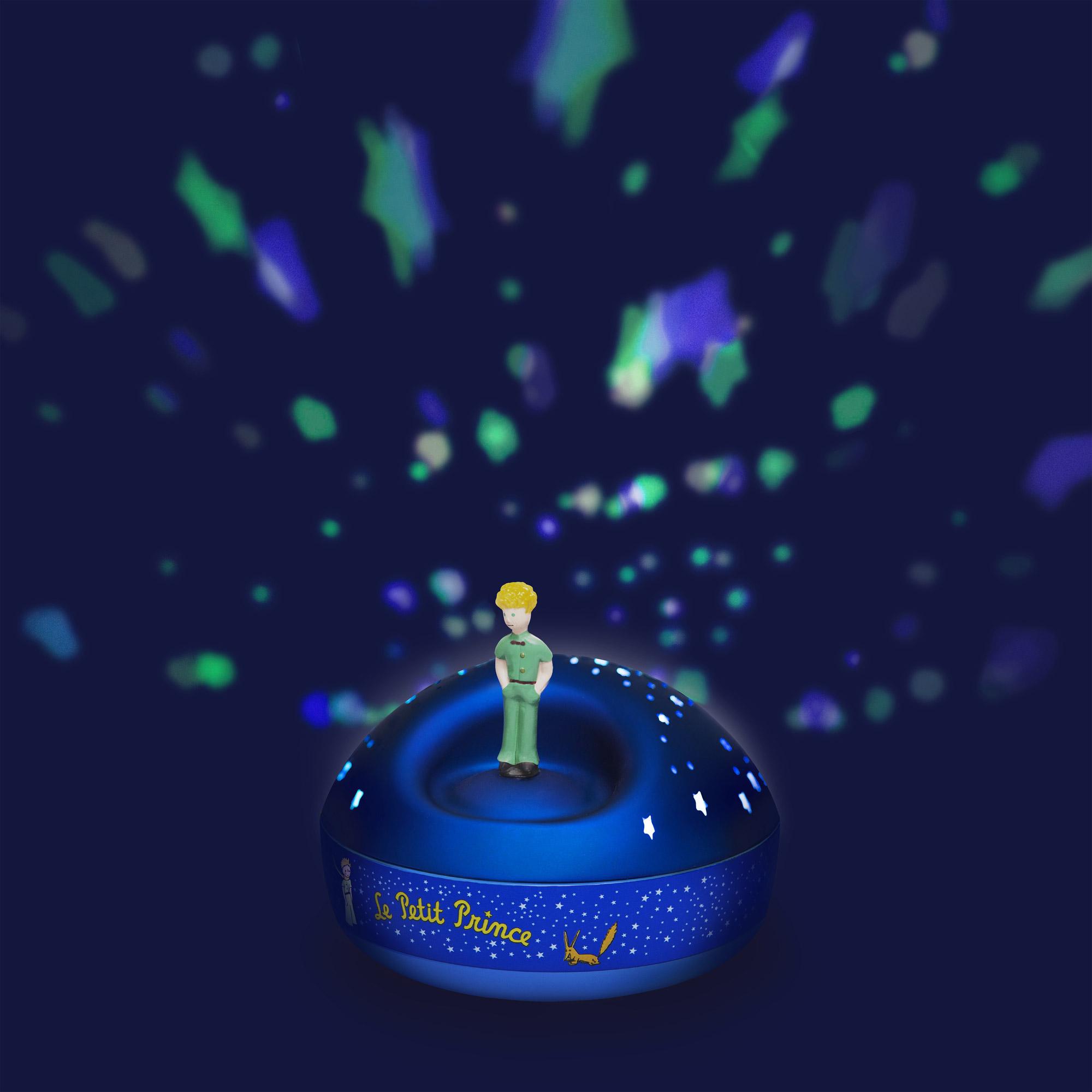 Projecteur étoiles musical Petit Prince vert  de Trousselier