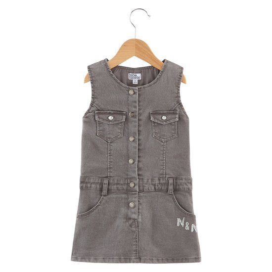Robe denim collection Amsterdam Forever Fille Gris  de Nano & nanette
