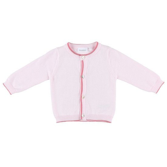 Cardigan tricot collection Cocon Fille Rose pâle  de Noukies