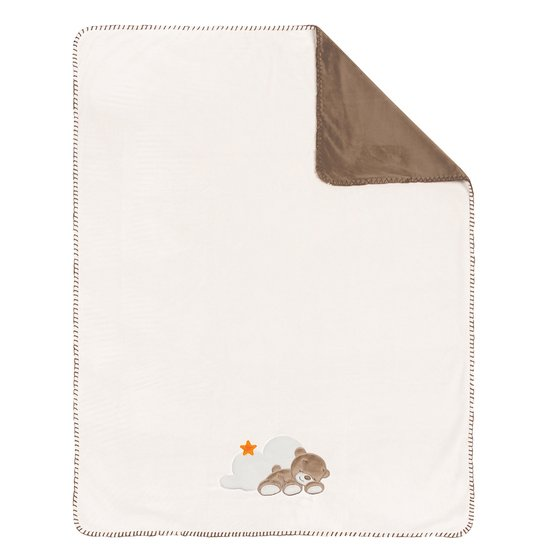 Mia & Basile Couverture Supersoft Ecru/brun  de Nattou