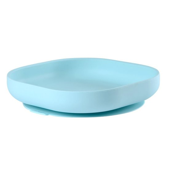 Assiette silicone ventouse  Light Blue  de Beaba