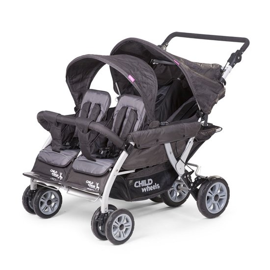 Poussette quadruple Anthracite  de Childhome