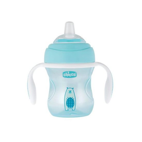 Tasse Transition bec souple  Bleu 4M+ de Chicco