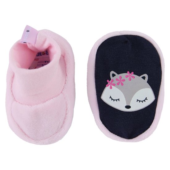 Chaussons collection Little Fox Rose Câlin  de P'tit Bisou Trousseau
