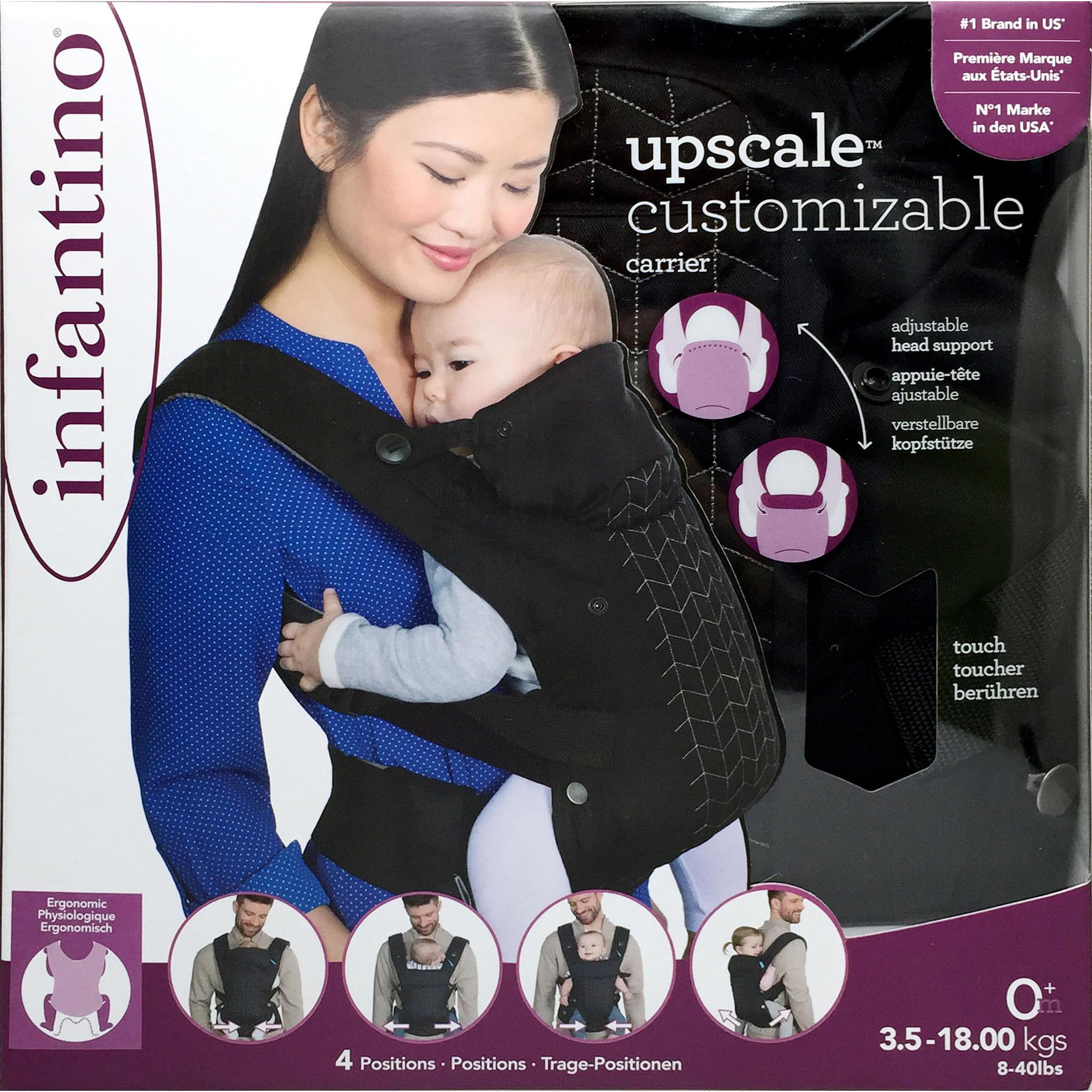 Porte bébé customizable Noir  de Infantino