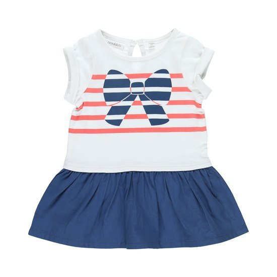 Robe rayée collection Bord de mer Fille Bleu / Blanc  de Noukies