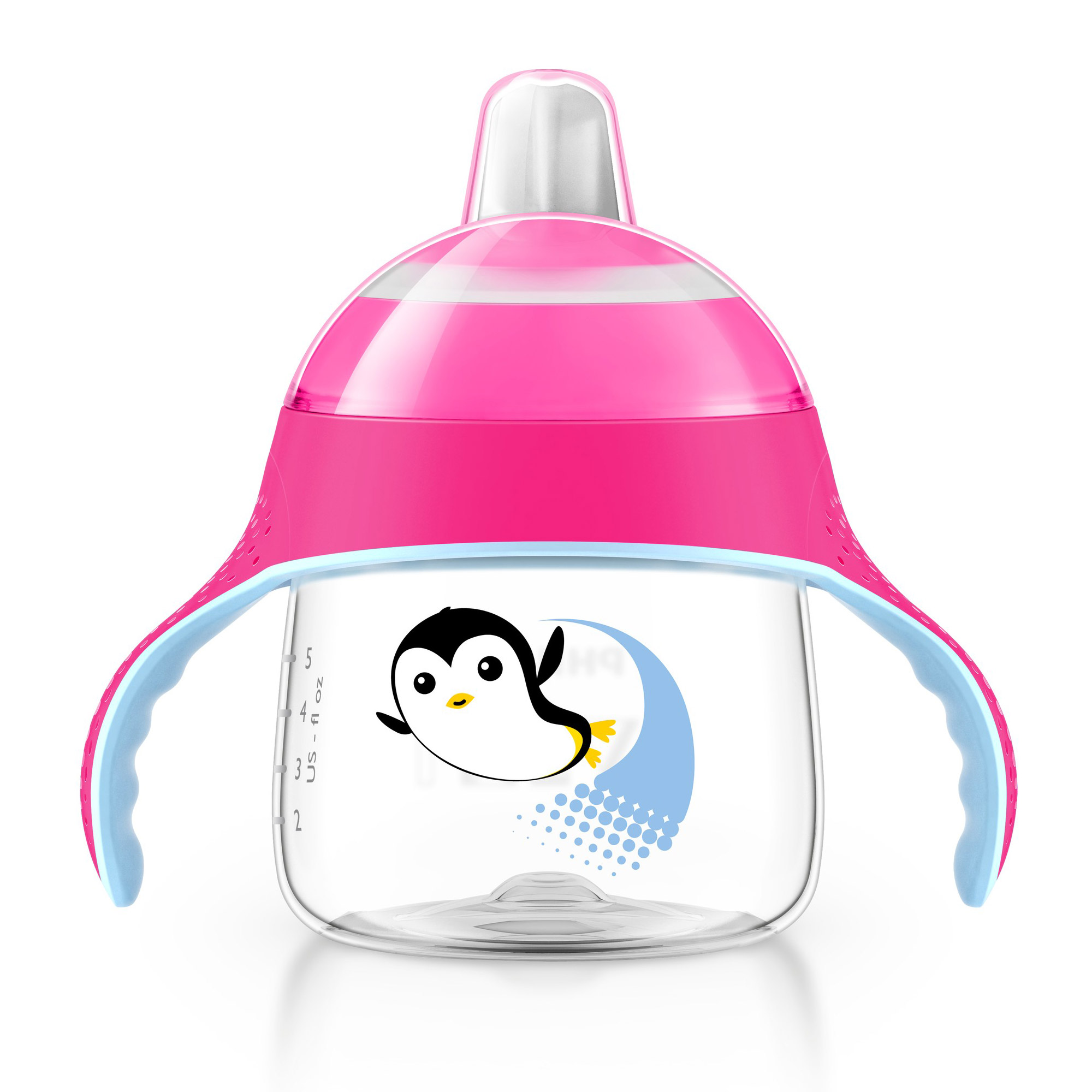 Tasse bec anti-fuite pingouin Rose 200 ml de Philips AVENT