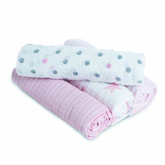 Lot de 4 langes 112x112 Doll  de aden + anais essentials