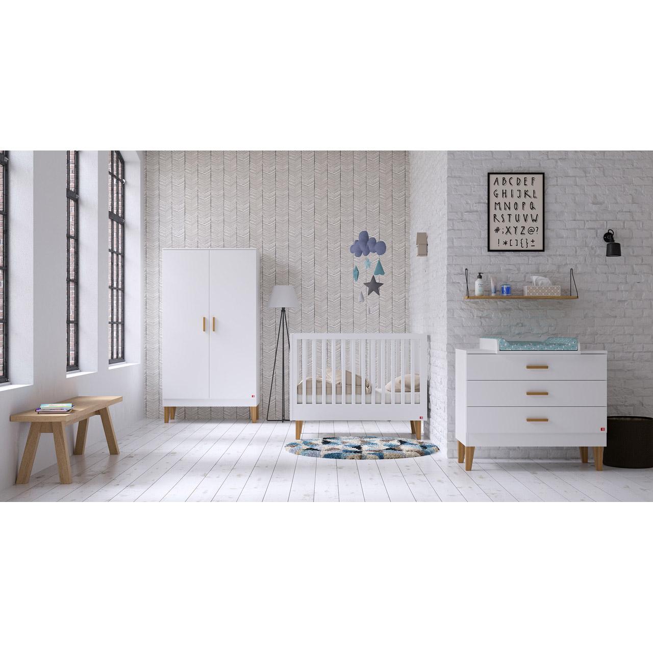 Lounge armoire 2 portes Blanc  de Vox