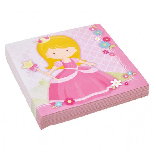20 serviettes  My Princess  de Amscan