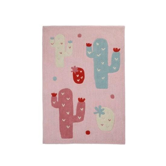 Mila tapis de chambre Rose / Blanc de Sauthon Baby Déco, Mila : Aubert