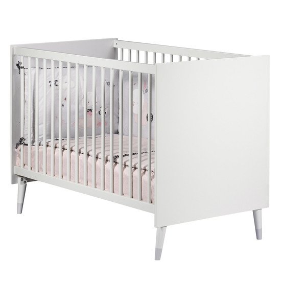 Candie lit 60x120 Blanc  de Sauthon Baby's Sweet Home
