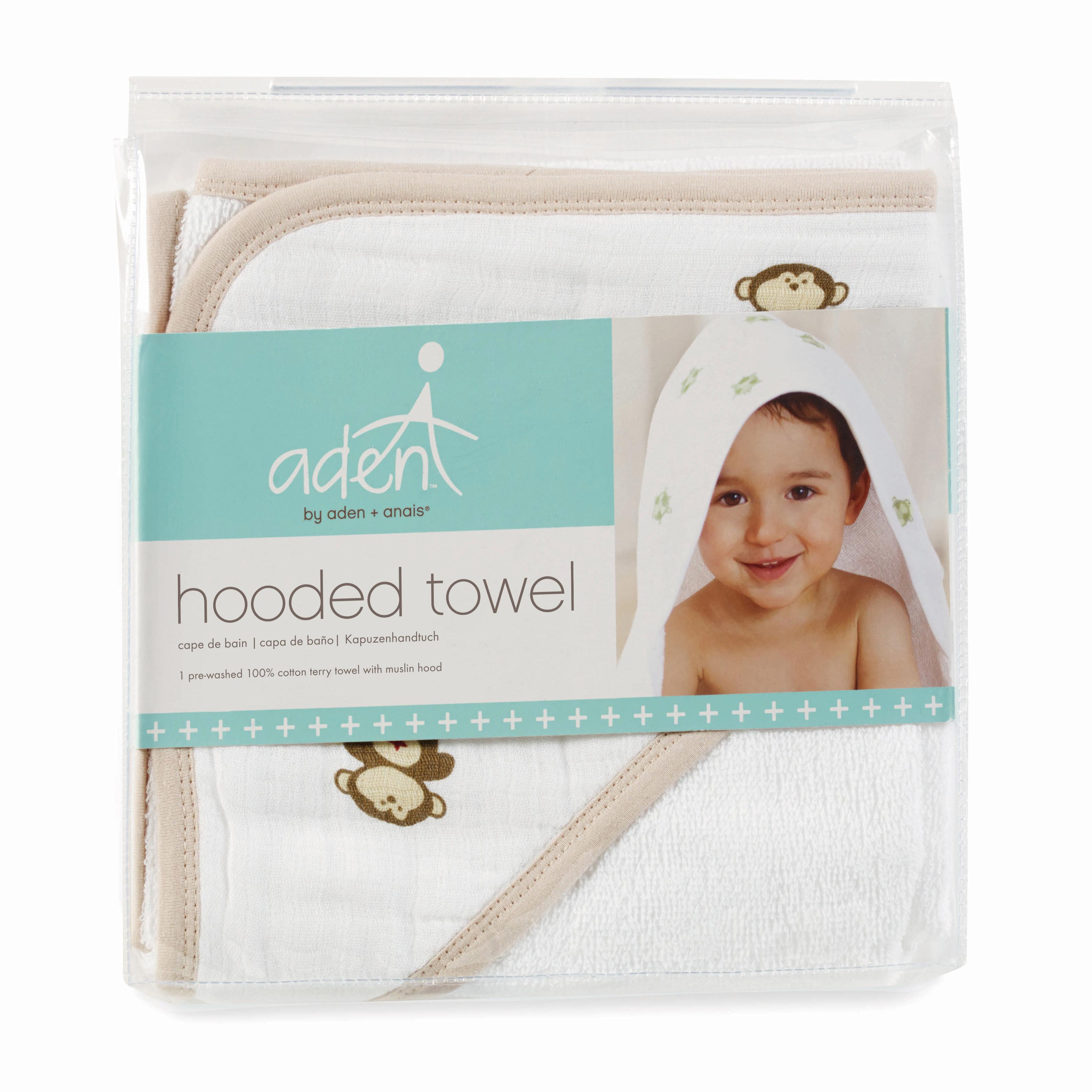 Cape de bain en éponge avec capuche mousseline Doll  de aden + anais essentials