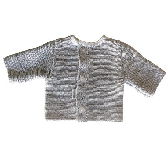 Cardigan coton bio Collection P'tit Bisou Trousseau Tricot 2019 Gris chiné 0 mois de P'tit bisou