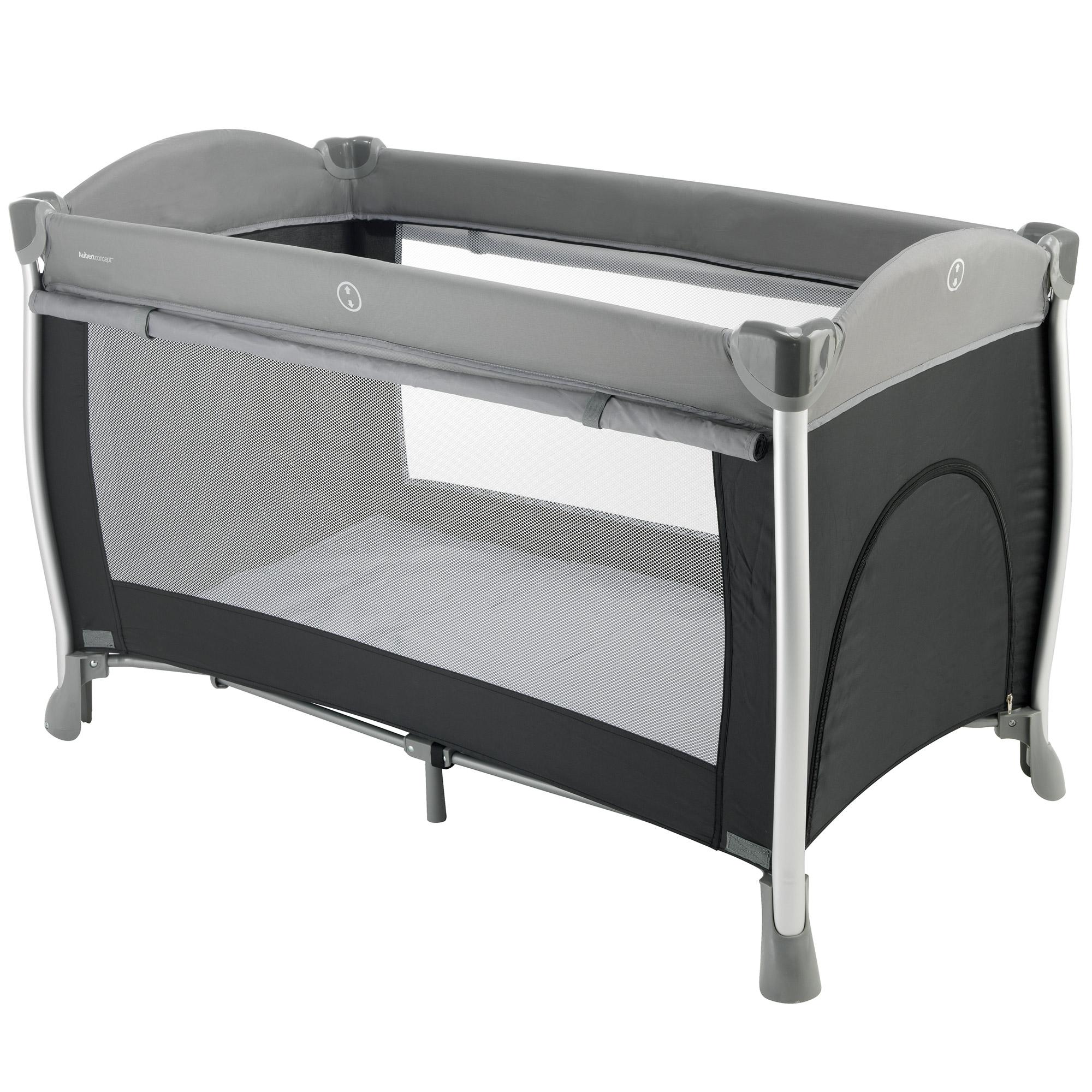 Lit confort noir gris de aubert concept lits parapluies aubert - Rehausseur lit parapluie ...