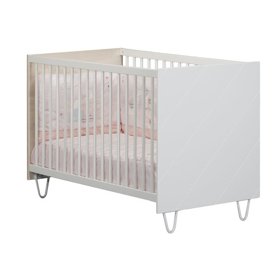 Happy lit 60x120 Accacia clair/blanc  de Sauthon Baby's Sweet Home