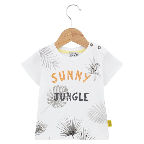 T-shirt jungle collection Sunny Paradise Garçon Blanc  de Nano & nanette