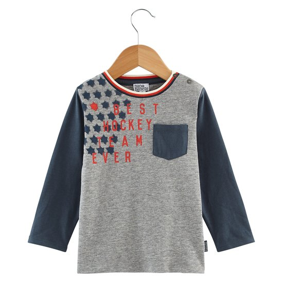 T-shirt bicolore collection Native American Boy Gris  de Nano & nanette