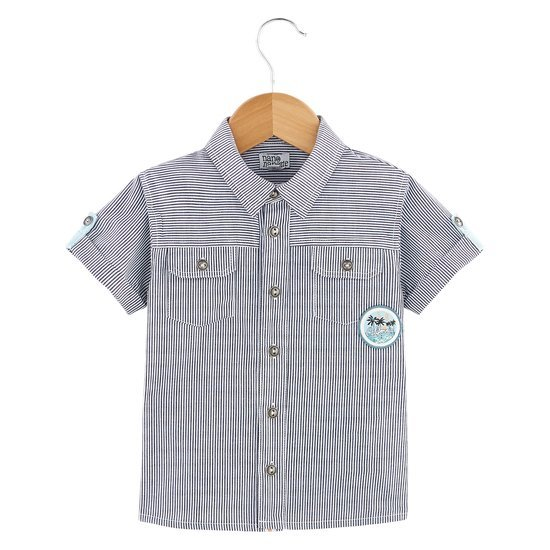 Chemise collection California Dreamin Garçon Blanc/Gris  de Nano & nanette