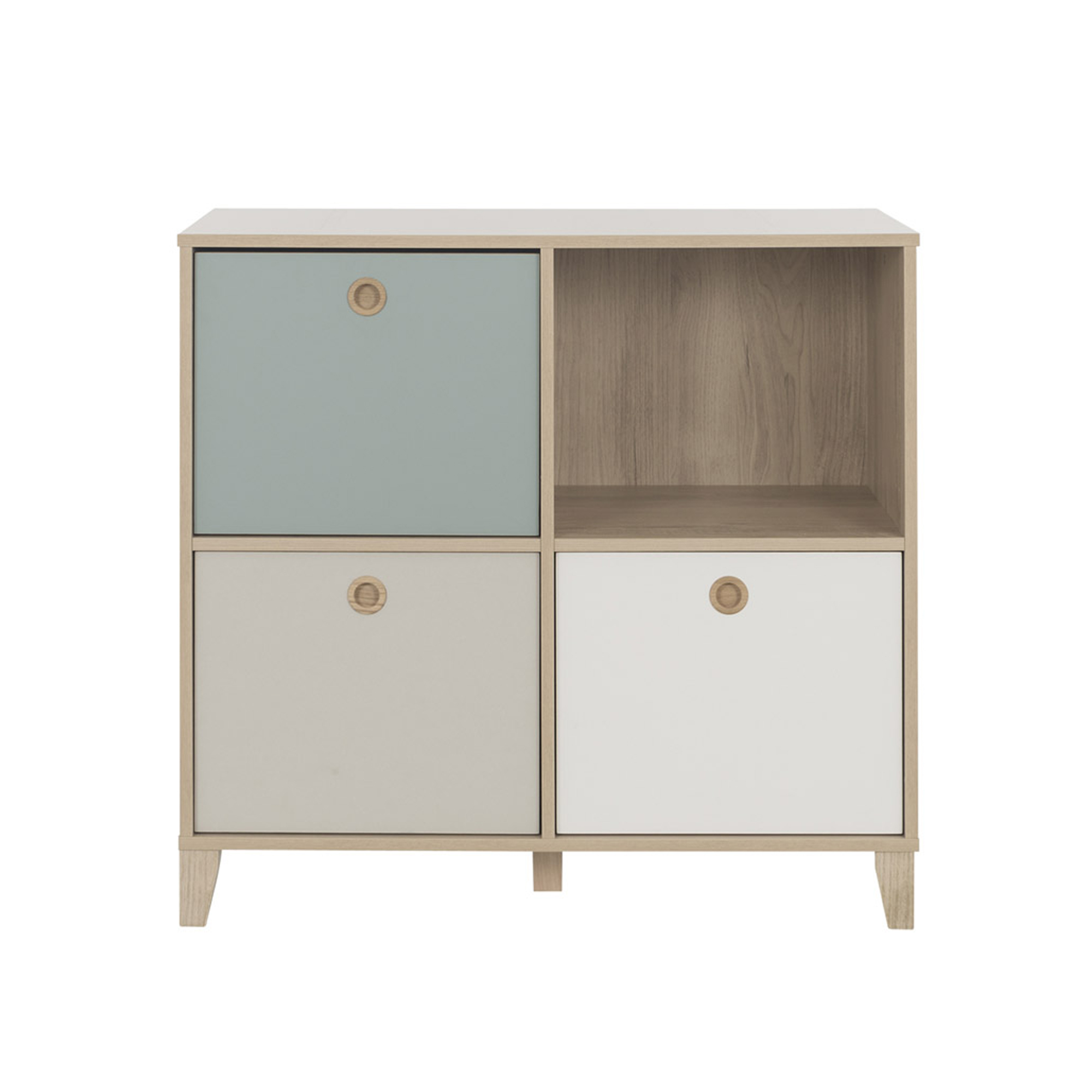Lora commode 4 niches Blanc  de Galipette