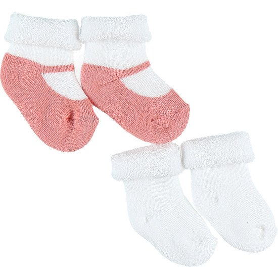 Lot 2 paires chaussettes collection Cocon été Rose  de Noukies