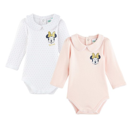 Lot de 2 bodies col claudine Mickey  de Disney Baby