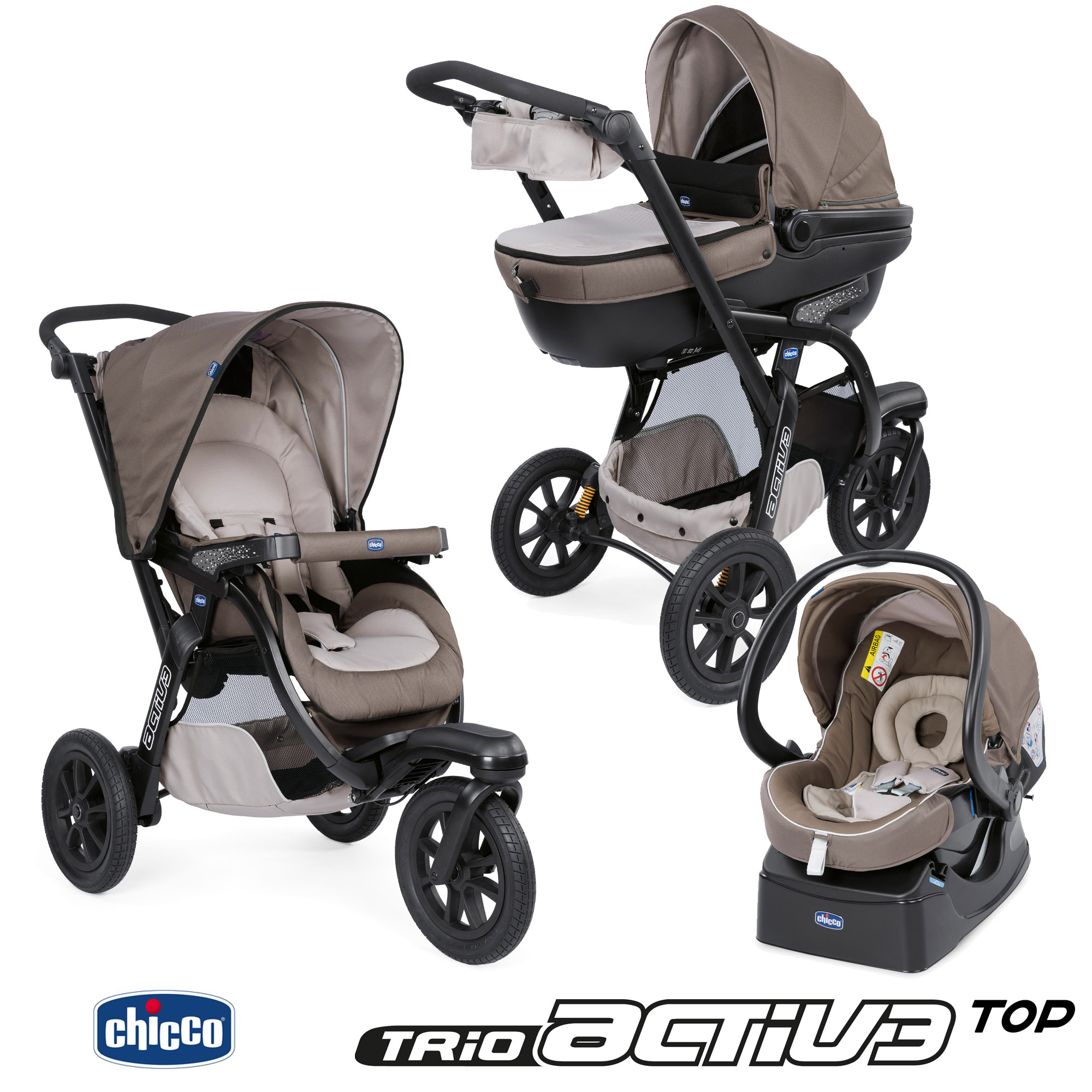Trio Activ3 Top Dove Grey  de Chicco