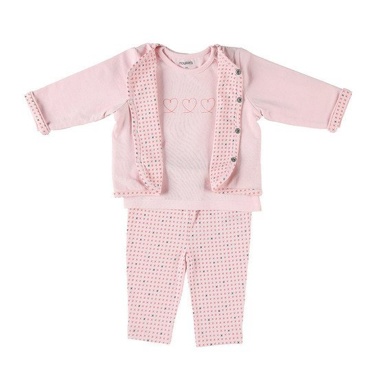 Ensemble 3 pièces collection Cocon Fille été Rose  de Noukies