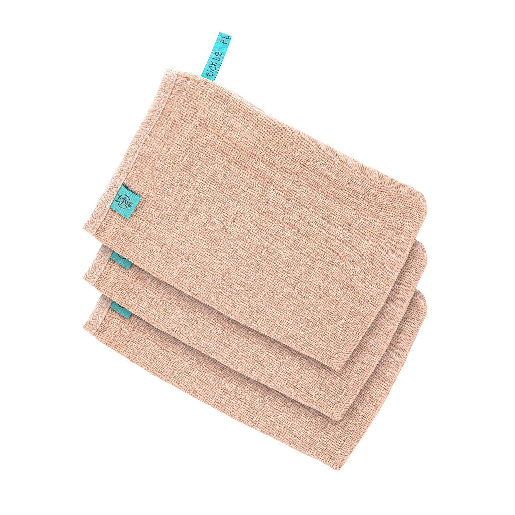 Lot de 8/Gants de Toilette en mousseline de naissance dallaitement en coton doux Serviettes