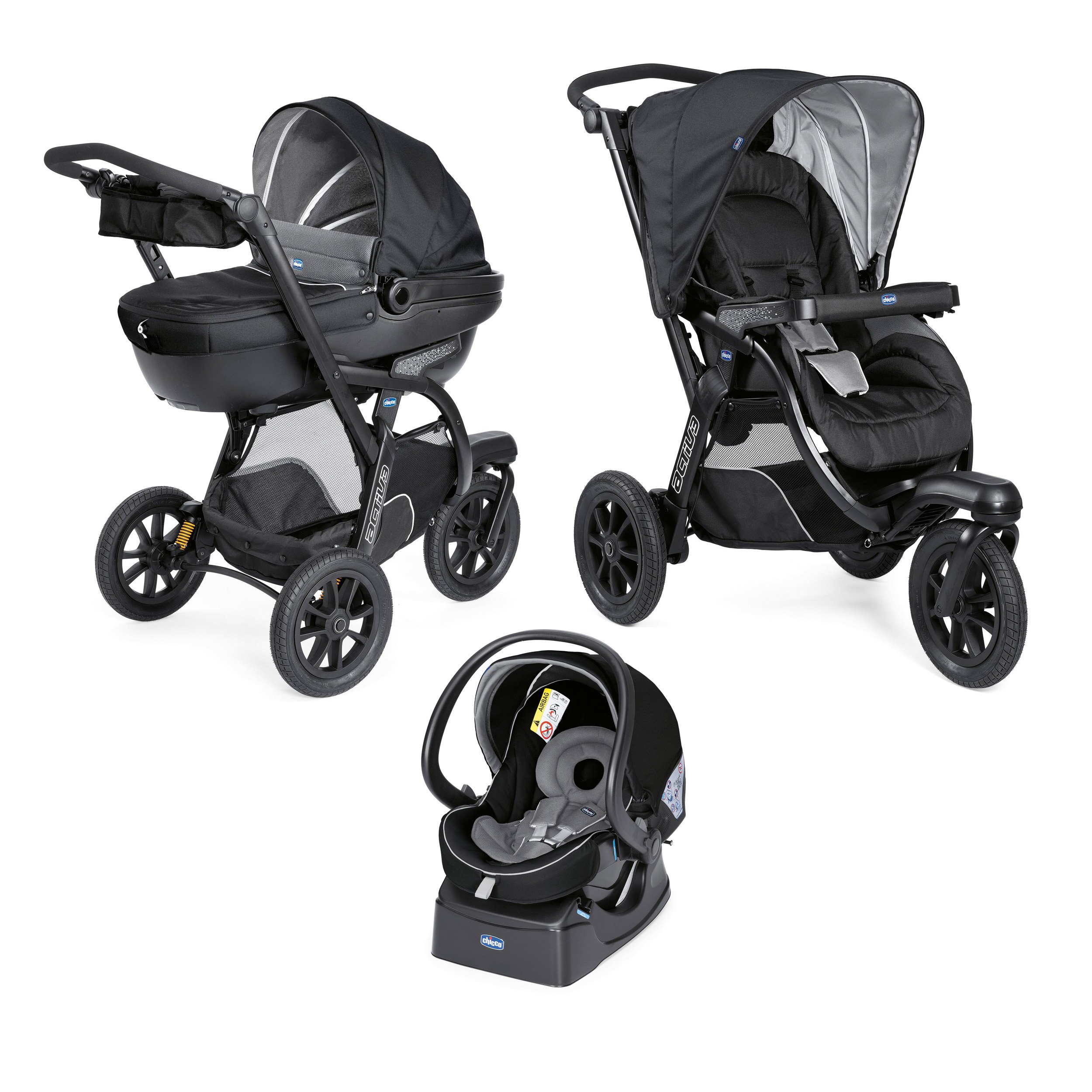 Trio Activ3 Top Dark Jet Black  de Chicco