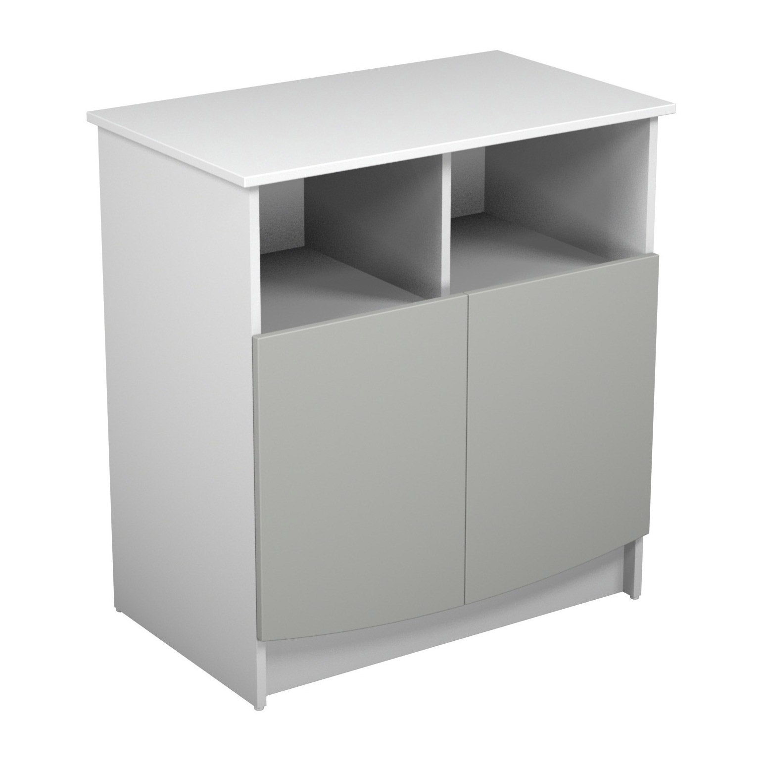 Primo Duo Commode 2 Portes Gris Blanc De Jurababy Commodes Aubert