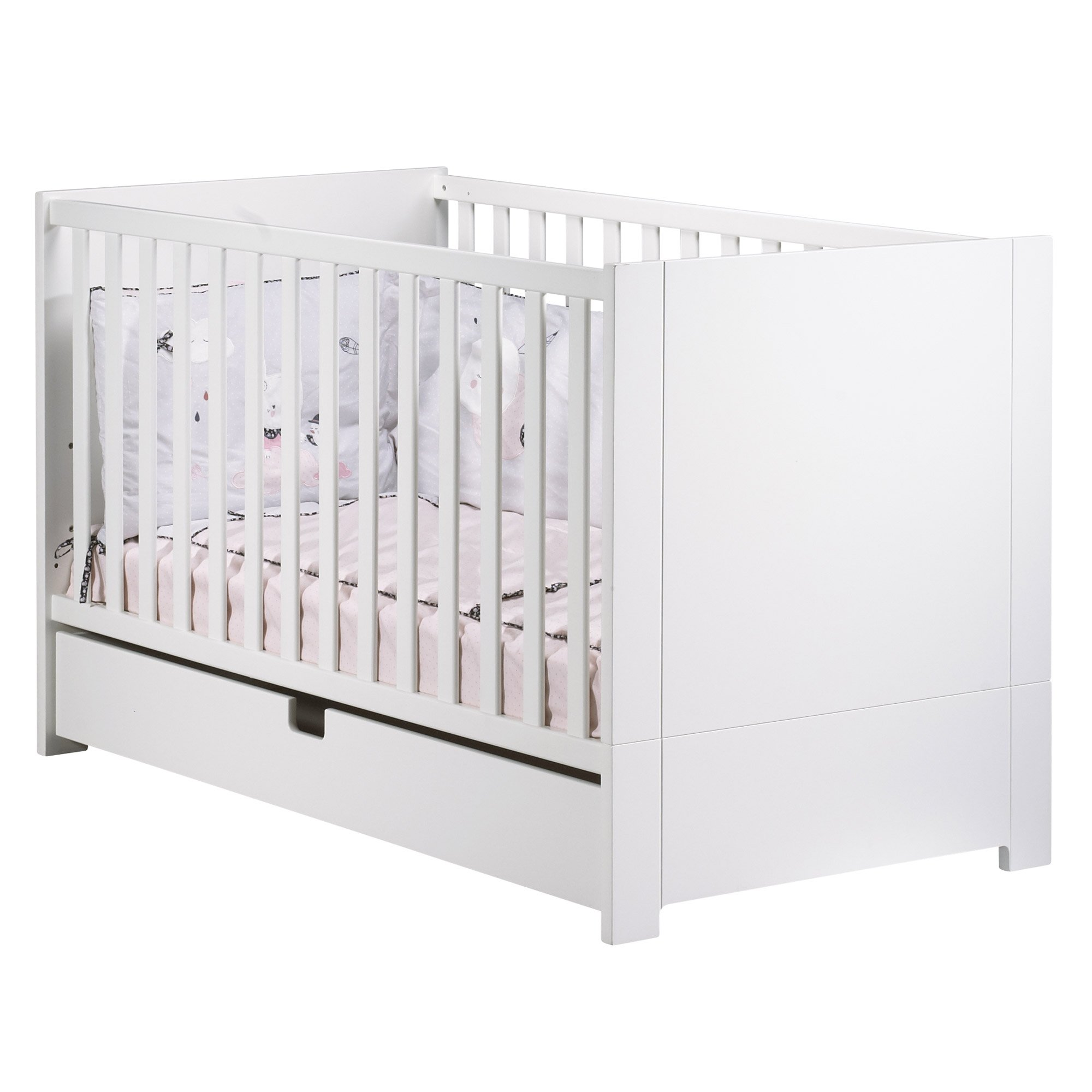 City lit Little Big Bed 70x140 Blanc  de Sauthon Baby's Sweet Home