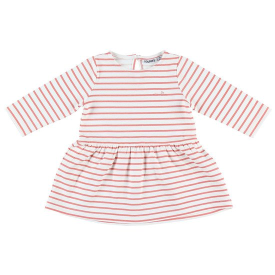 Robe rayée collection Cocon été Fille Rose  de Noukies