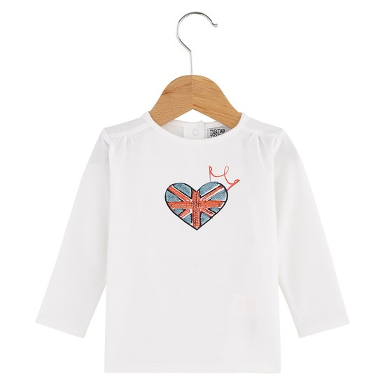 T-shirt manches longues collection English Summer Camp Fille Blanc Windsor  de Nano & nanette