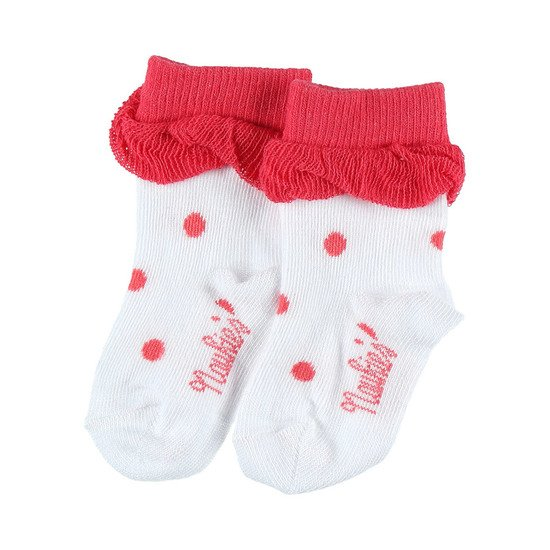 Chaussettes collection Peps Girl Blanc / Rose  de Noukies