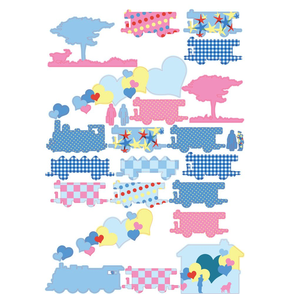 Sticker frise 35 x 50 cm Trains  de Around the Wall