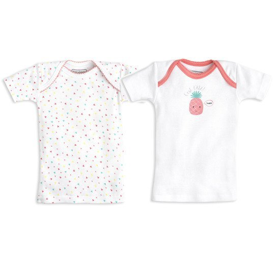 Lot de 2 t-shirts collection été 2018 Ananas  de P'tit Bisou Trousseau