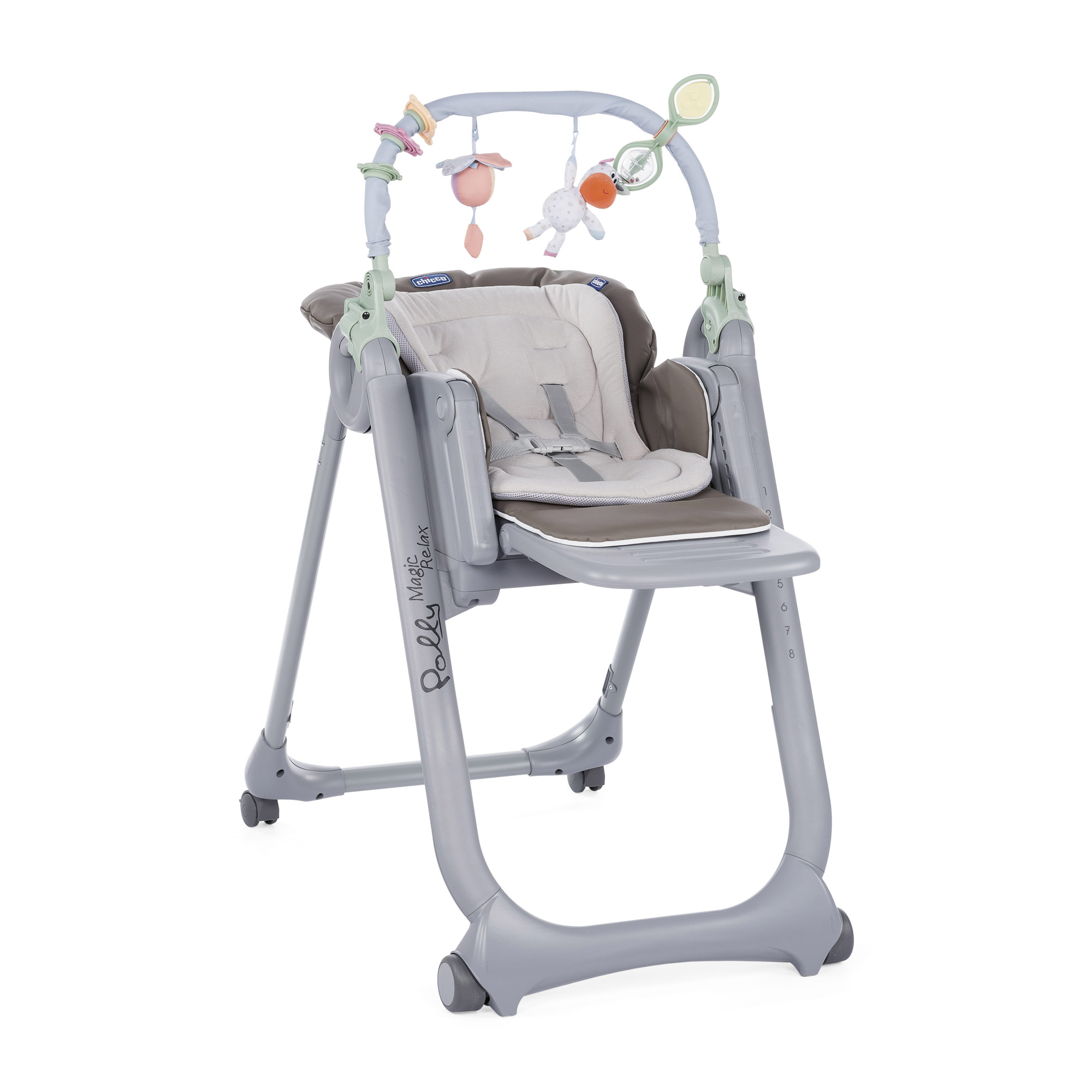 Chaise Haute Polly Magic Relax 4 Roues