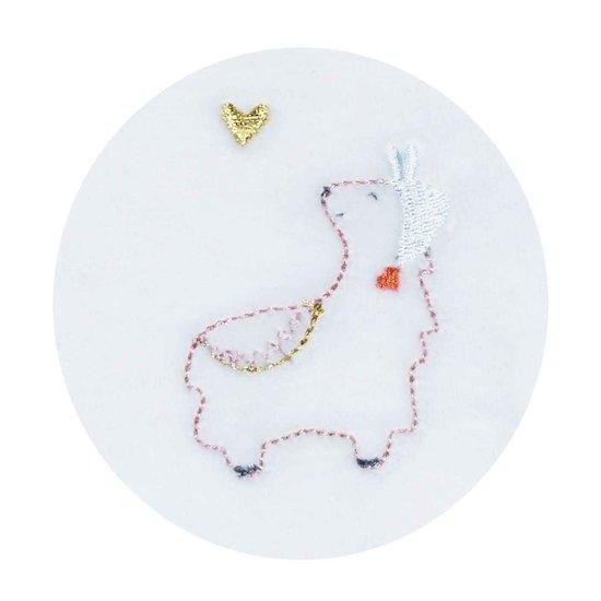 Mila Pyjamas Velours Blanc Naissance de Sauthon Baby Déco