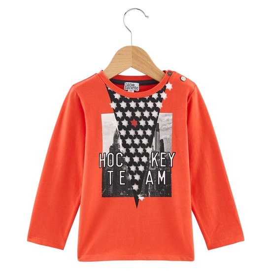 T-shirt hockey collection Native American Boy Rouge  de Nano & nanette