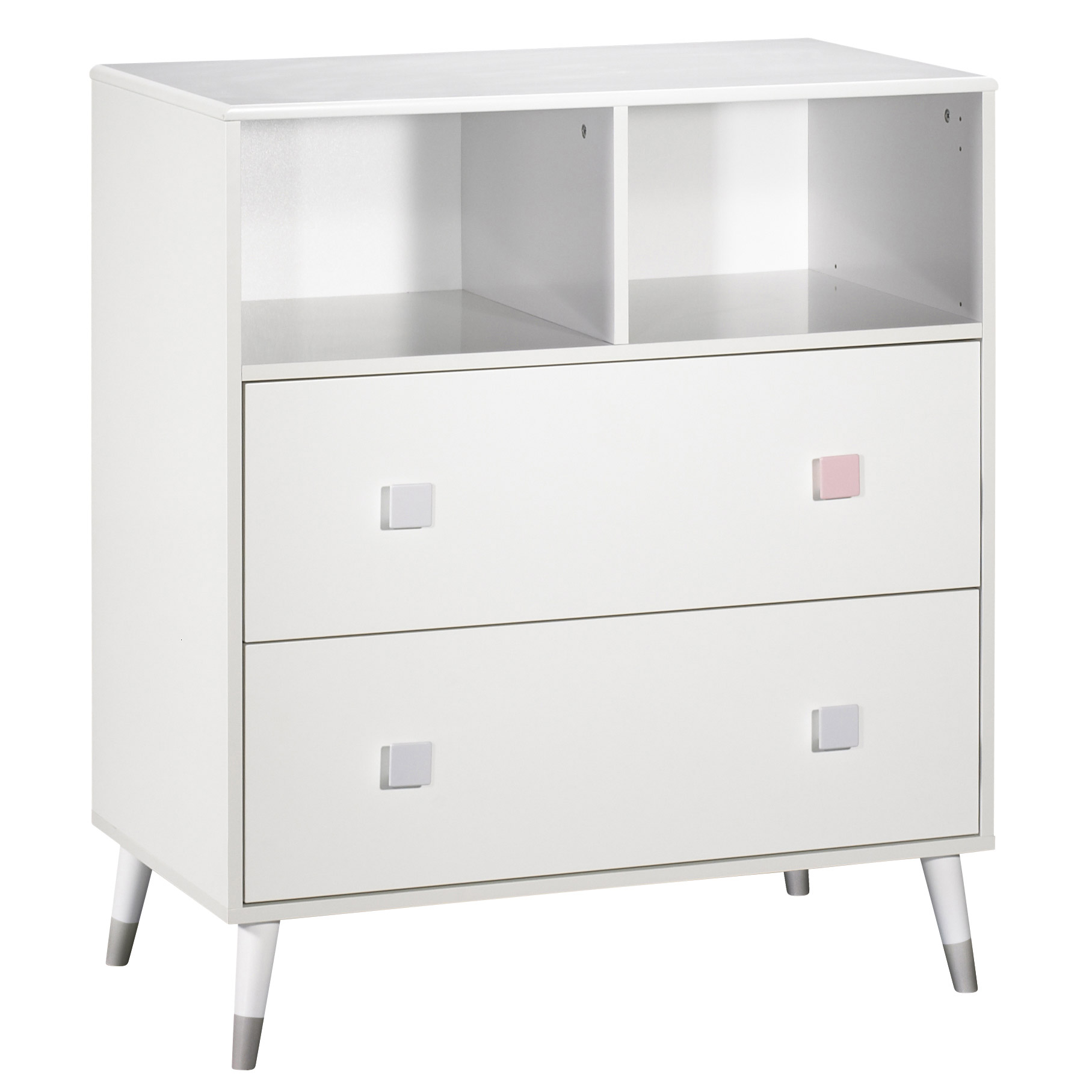 Candie commode 2 tiroirs Blanc  de Sauthon Baby's Sweet Home