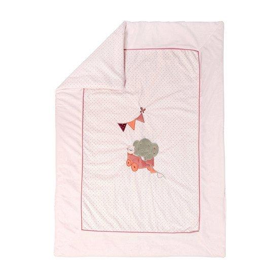 Fille rose Nattou Couverture B/éb/é 135 x 100 cm Ad/èle et Valentine