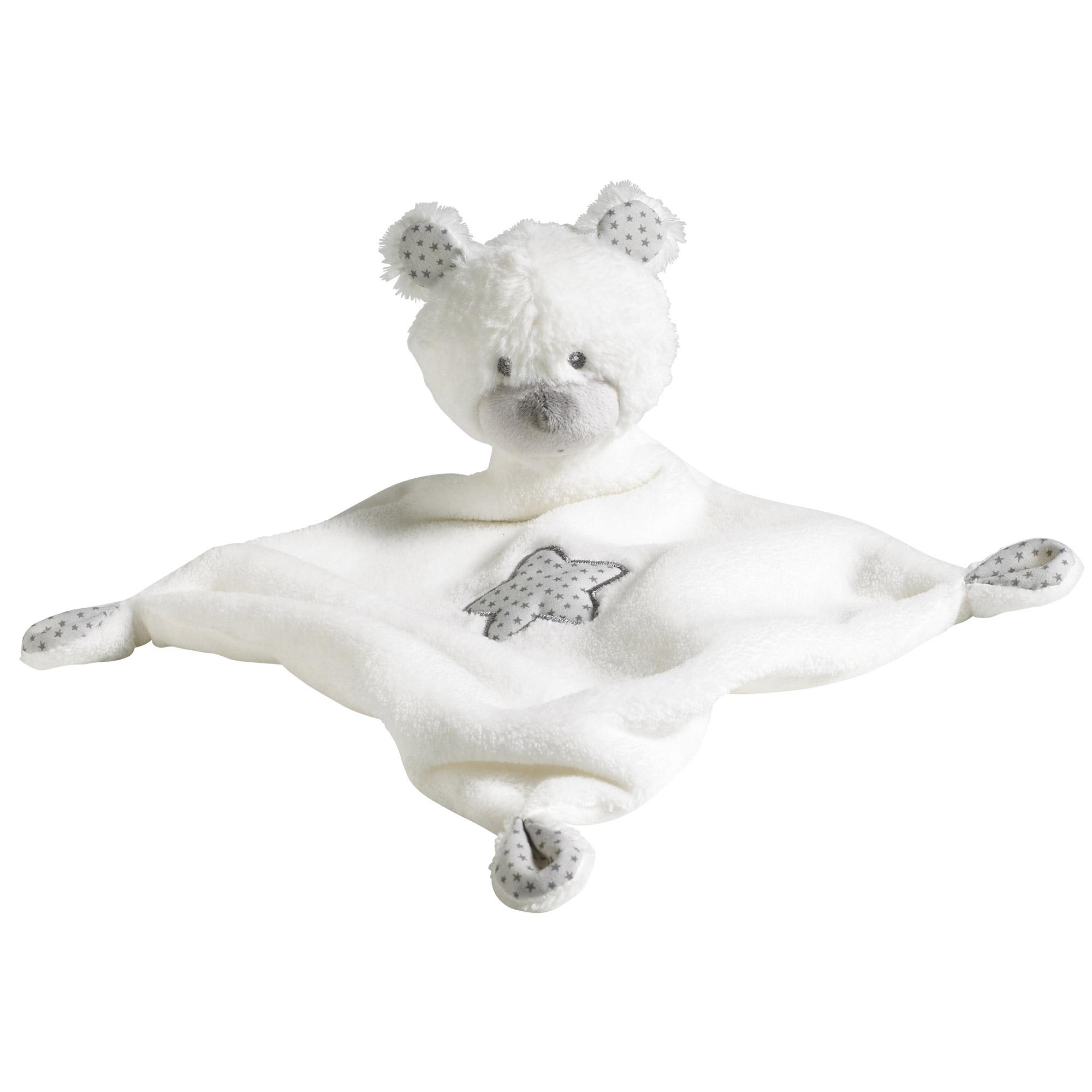 foto de Céleste doudou mouchoir Blanc de Sauthon Baby Déco Doudous : Aubert