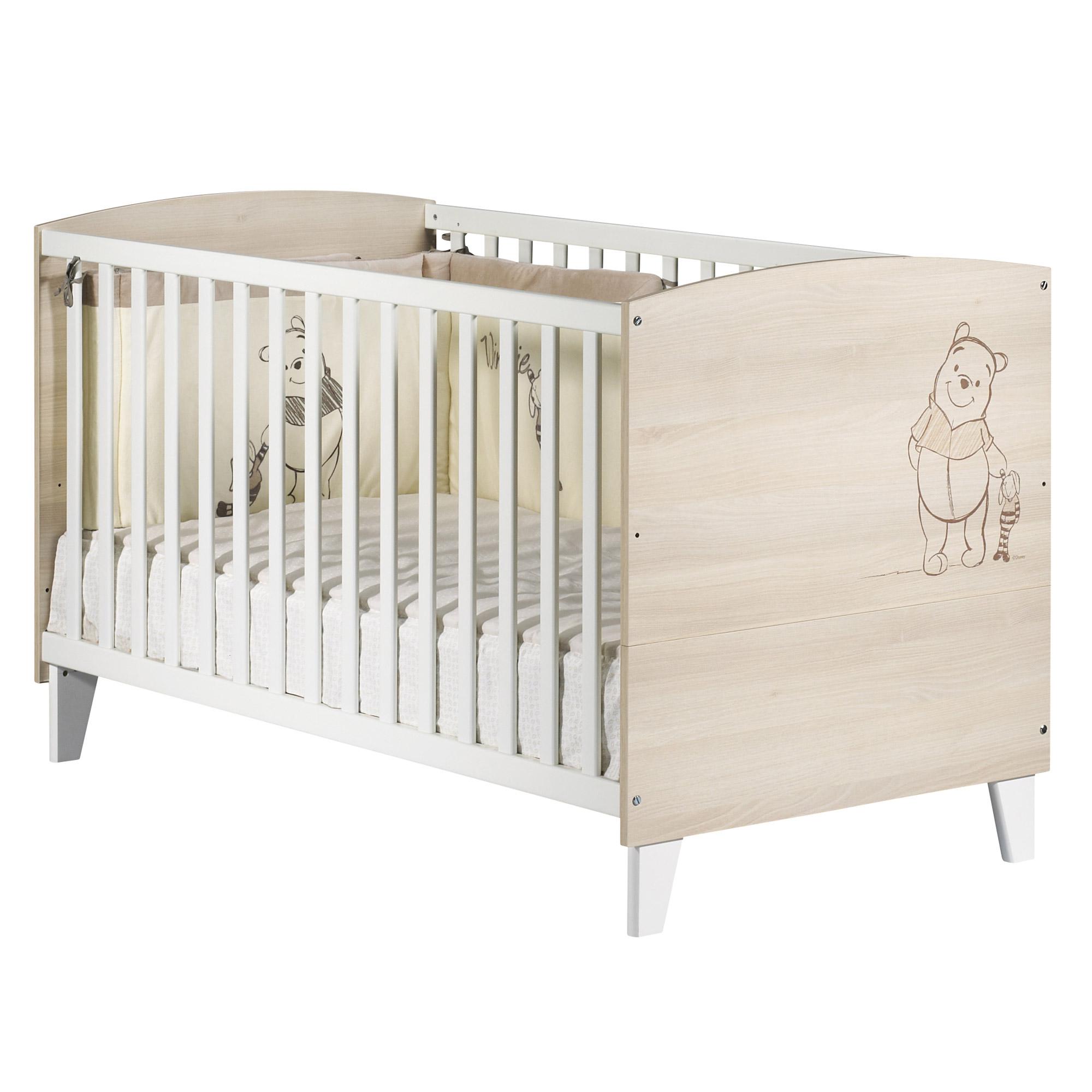 Winnie l\'Ourson little big bed 70x140 Beige 70x140 de Sauthon Baby\'s ...