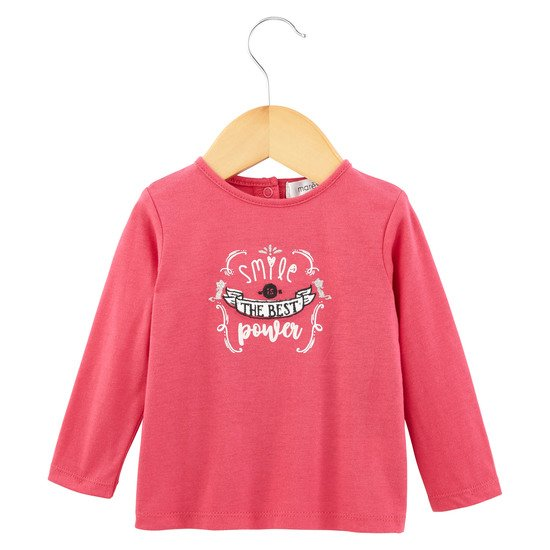 T-shirt manches longues Fille Collection Portobello Rose Néon  de Marèse
