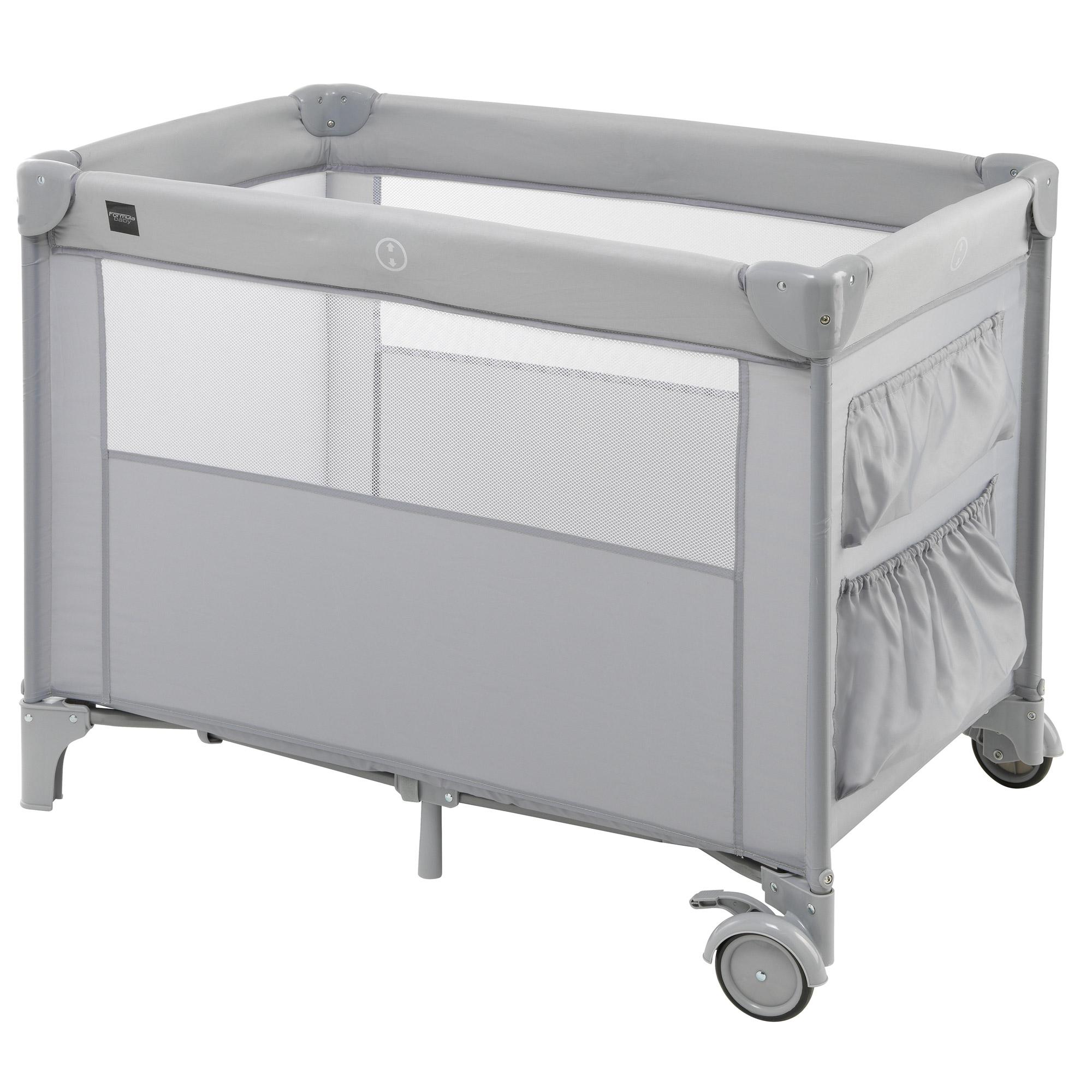 lit compact gris de formula baby lits parapluies aubert. Black Bedroom Furniture Sets. Home Design Ideas